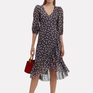 GANNI Tilden wrap dress mesh Intermix 34